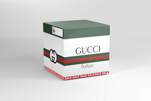 Open virtual Gucci Budget box