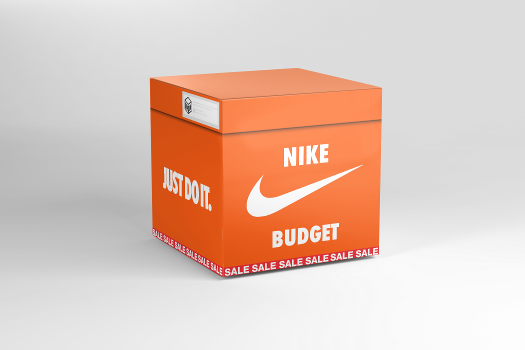 Open virtual Nike Budget box