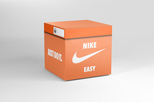 Open virtual Nike Easy box