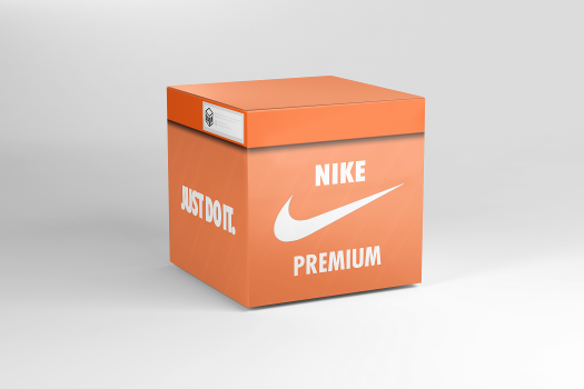 Open virtual Nike Premium box