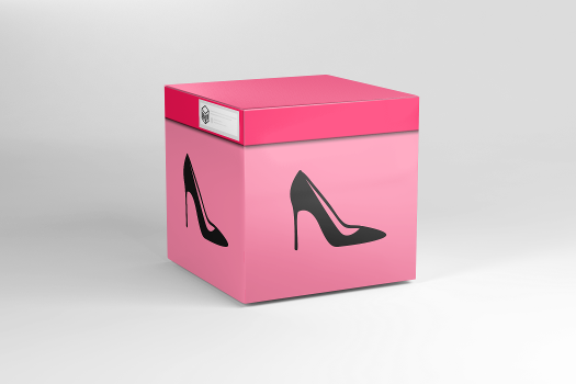 Open virtual Women Shoes box