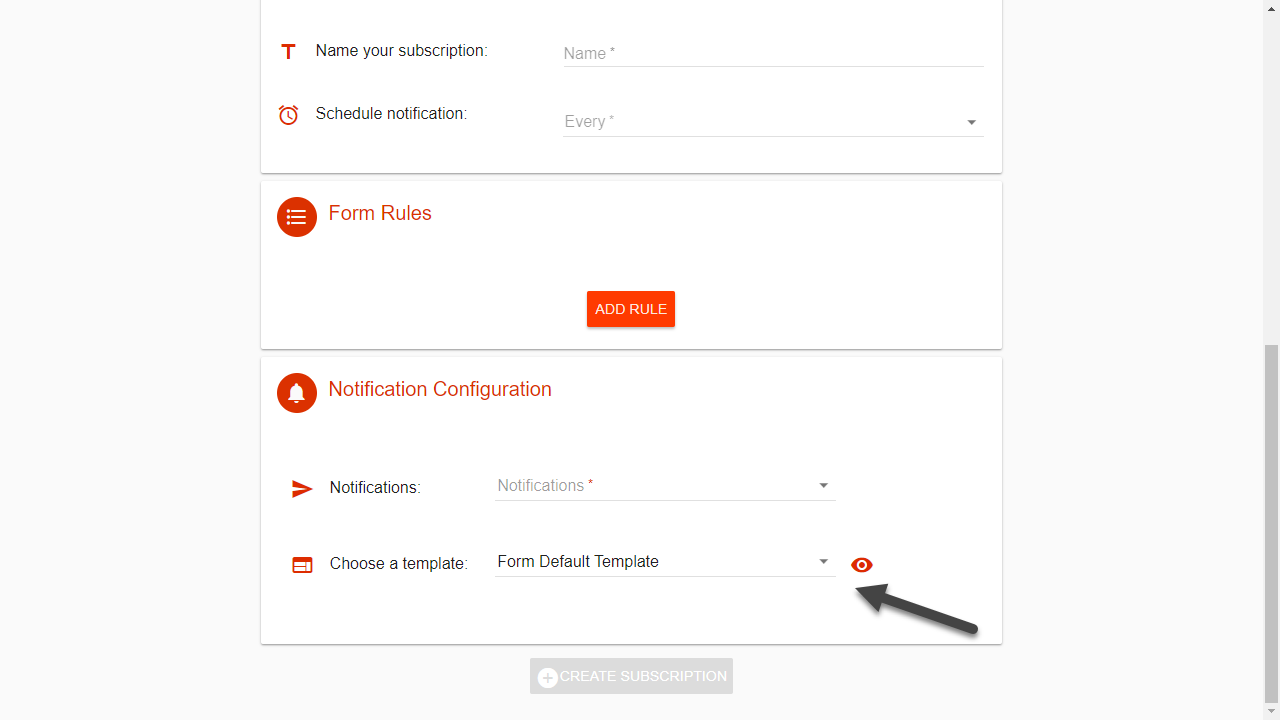 create a drivewatcher alert with a template