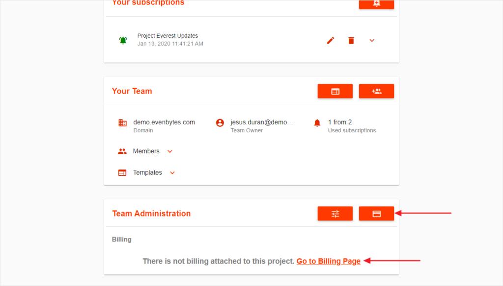 add billing information in DriveWatcher