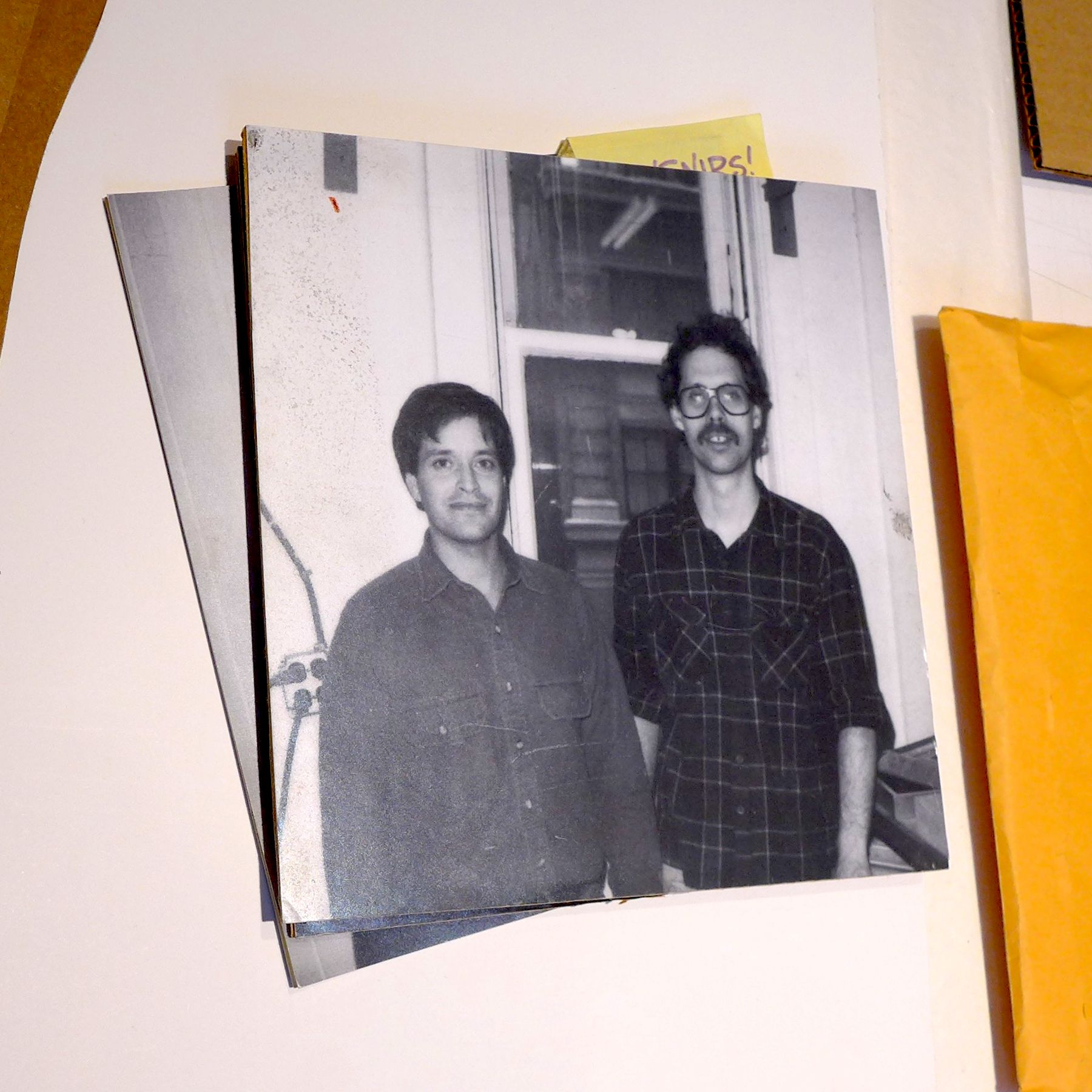 A photo of co-owners Donald and David in the early days.
