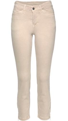 Nudefarbene Jeans