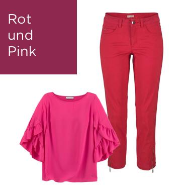 Rot und Pink