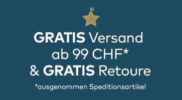 Gratis Versand und Retoure ab 99 CHF