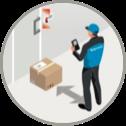 Kontaktlose Paketlieferung