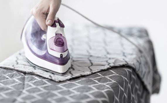 Leinen bügeln
