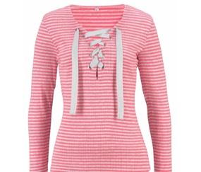 Pinke Langarmshirts