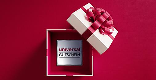 Geschenk-Gutscheine bei Universal einlösen
