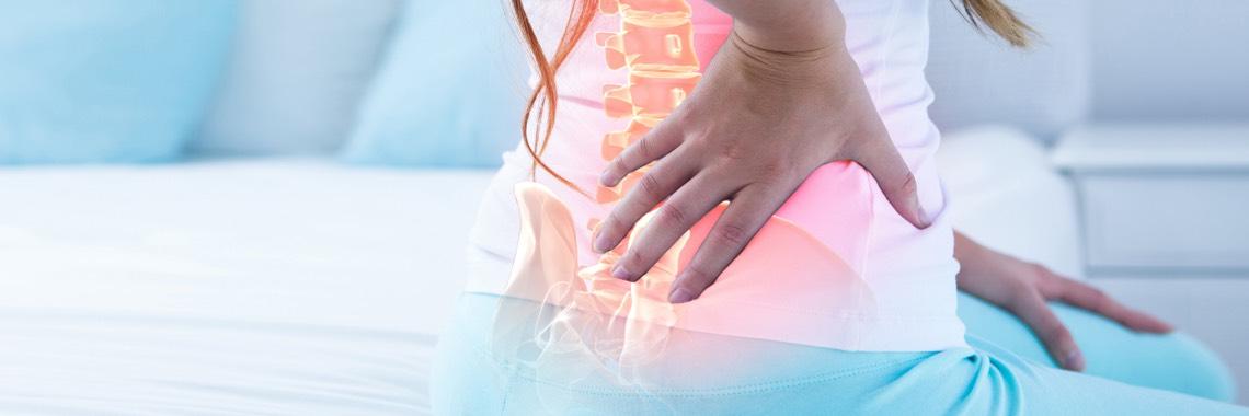 Bett bei Rückenschmerzen