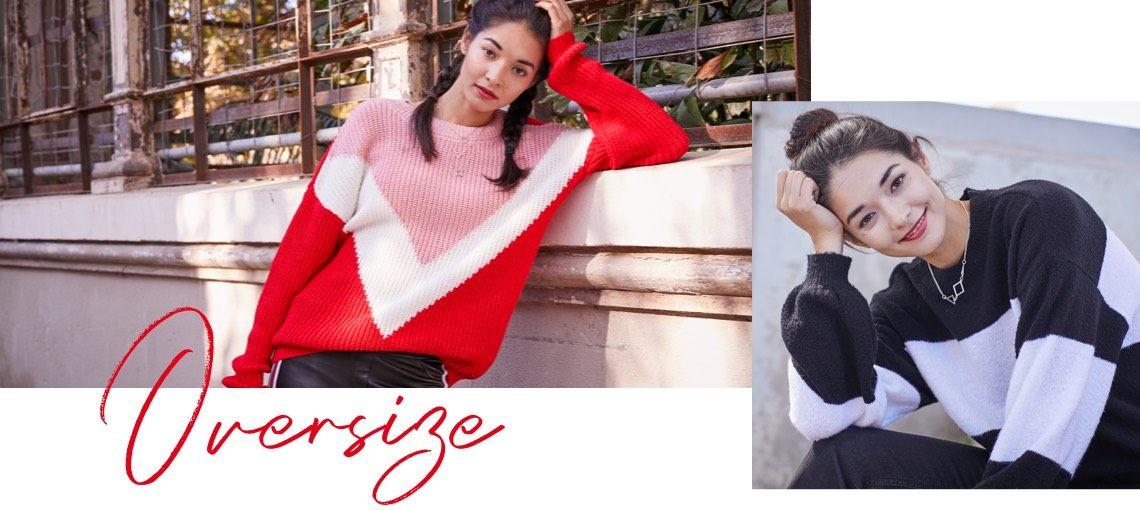 Oversize-Pullover kombinieren