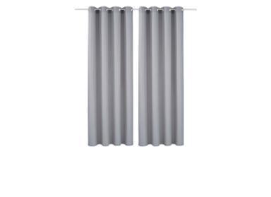 Wohnzimmer Gardinen grau
