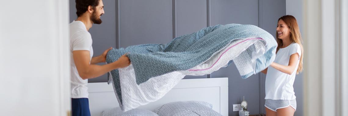 Bett machen