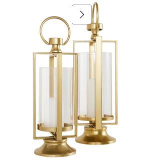 Goldfarbene Kerzenständer