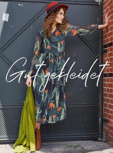 Herbstoutfit mit Kleid