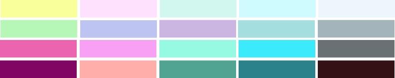 Farben für den Sommertyp