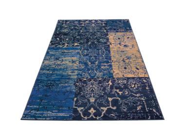 Blaue Vintageteppiche