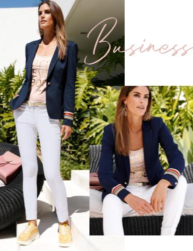 Business Chic mit weißer Hose