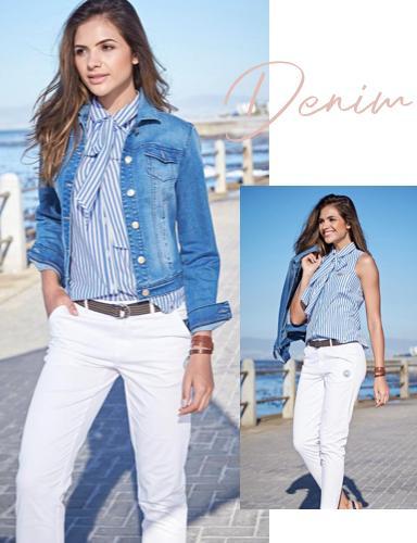 Dreamteam weiße Hose & blue Denim