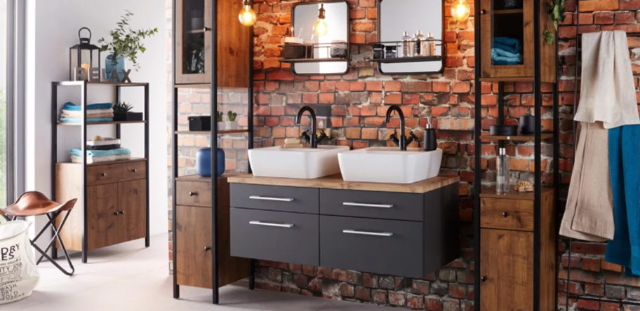 Badezimmer in Industrial-Style