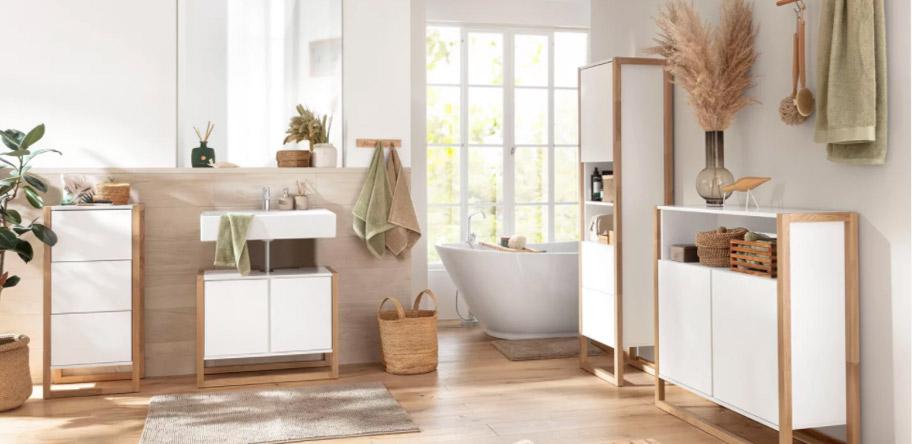 Badezimmer in Natur-Look
