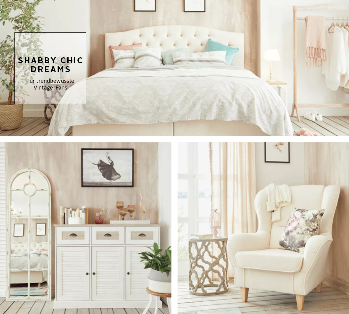 Wohntrend Shabby Chic Dreams