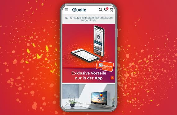 Exklusive Angebote nur in der Quelle App