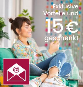 Anmelden und Newsletter Vorteile erhalten