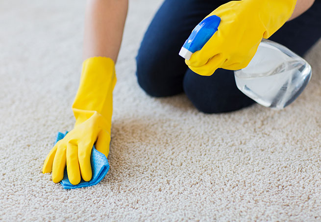 Teppich reinigen per Hand