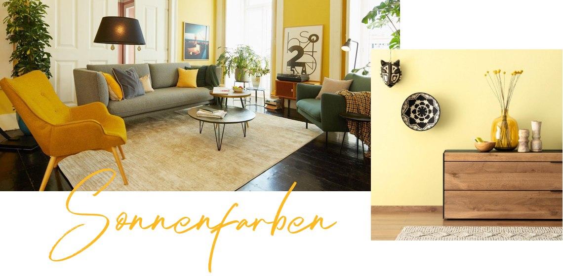 Wohnzimmer in Gelb