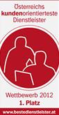 Österreichs Kundenorientiertester Dienstleister 2012