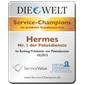 Hermes ist Service - Champion