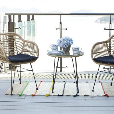Gartenmöbel, Balkonmöbel, Teppich, Tasse