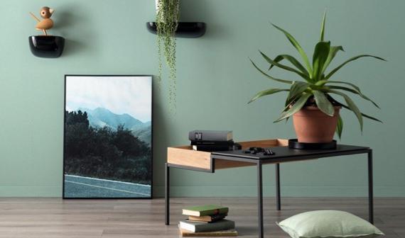 Wohnzimmer grün