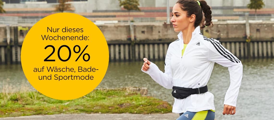 20% auf Wäsche, Bade- & Sportmode