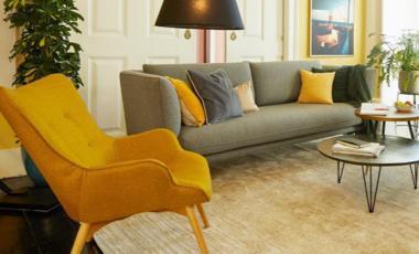 Wohnzimmer gelb