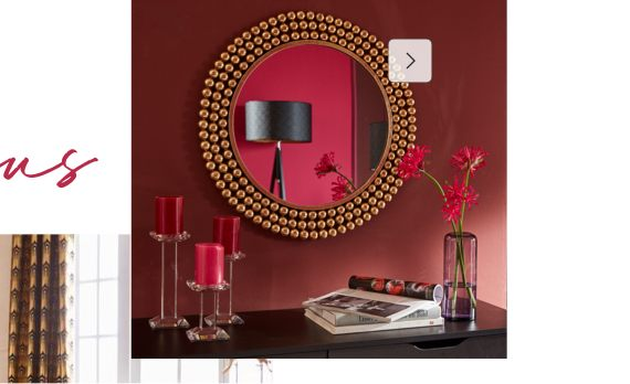 Goldene Wandspiegel