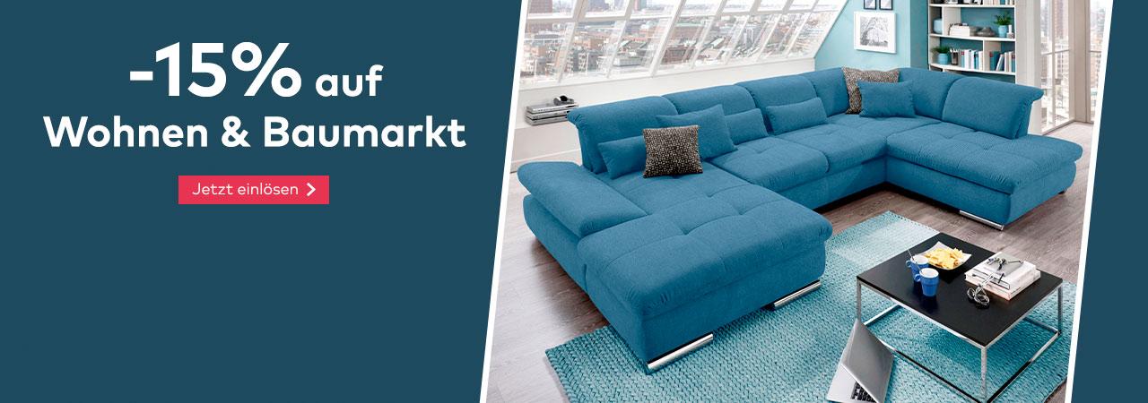 -15% auf Wohnen & Baumarkt im Quelle Online Shop