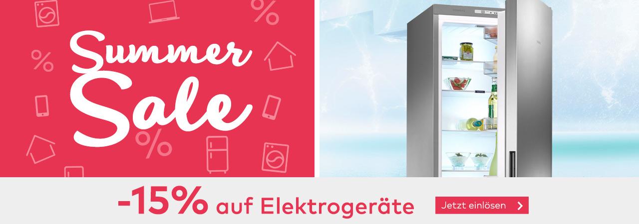 -15% Rabatt auf Elektrogeräte im Quelle Online Shop
