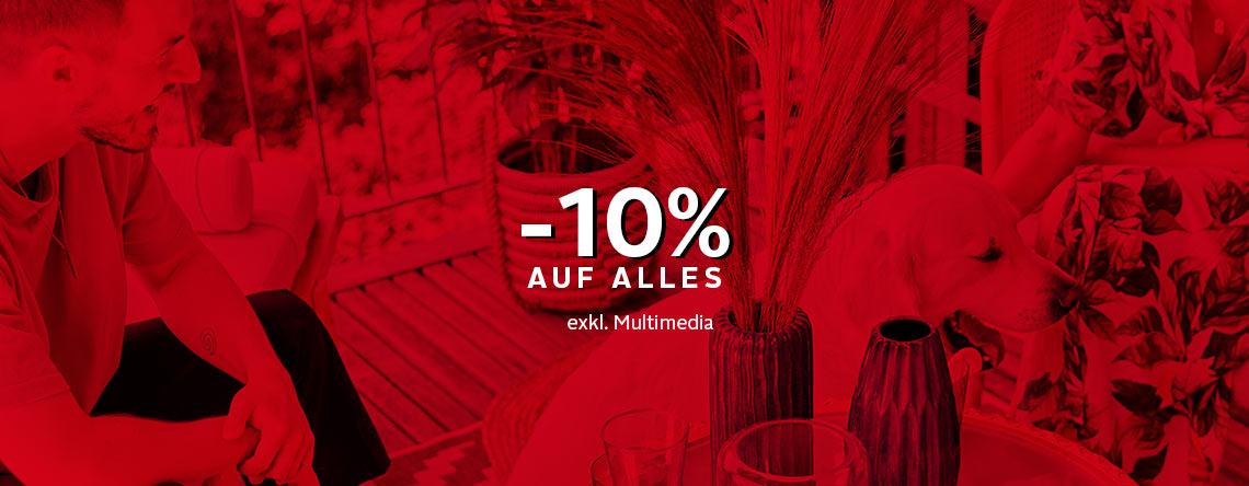 - 10% auf Alles