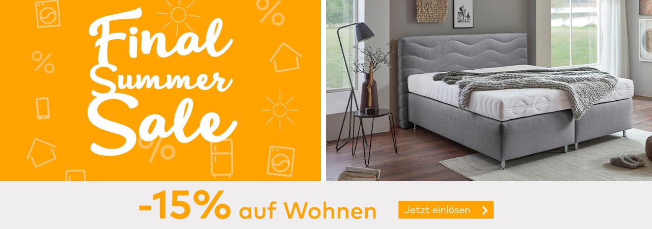 -15% Rabatt auf Wohnen im Quelle Online Shop
