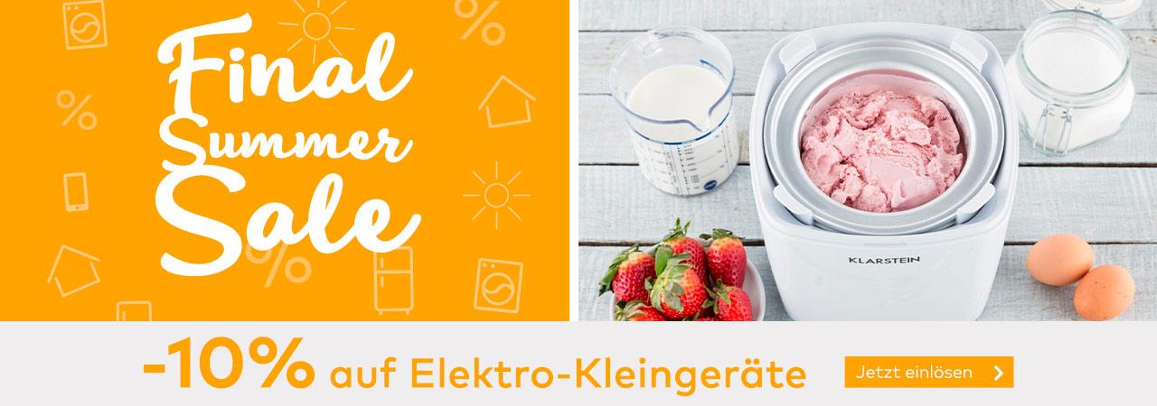 -10% Rabatt auf Elektro-Kleingeräte im Quelle Online Shop
