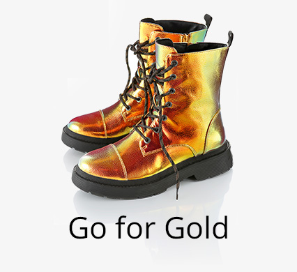 Schuh-Trend Go for Gold bei I'm walking