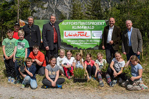 2.750 junge Bäume für den Talwald Münster/Tirol