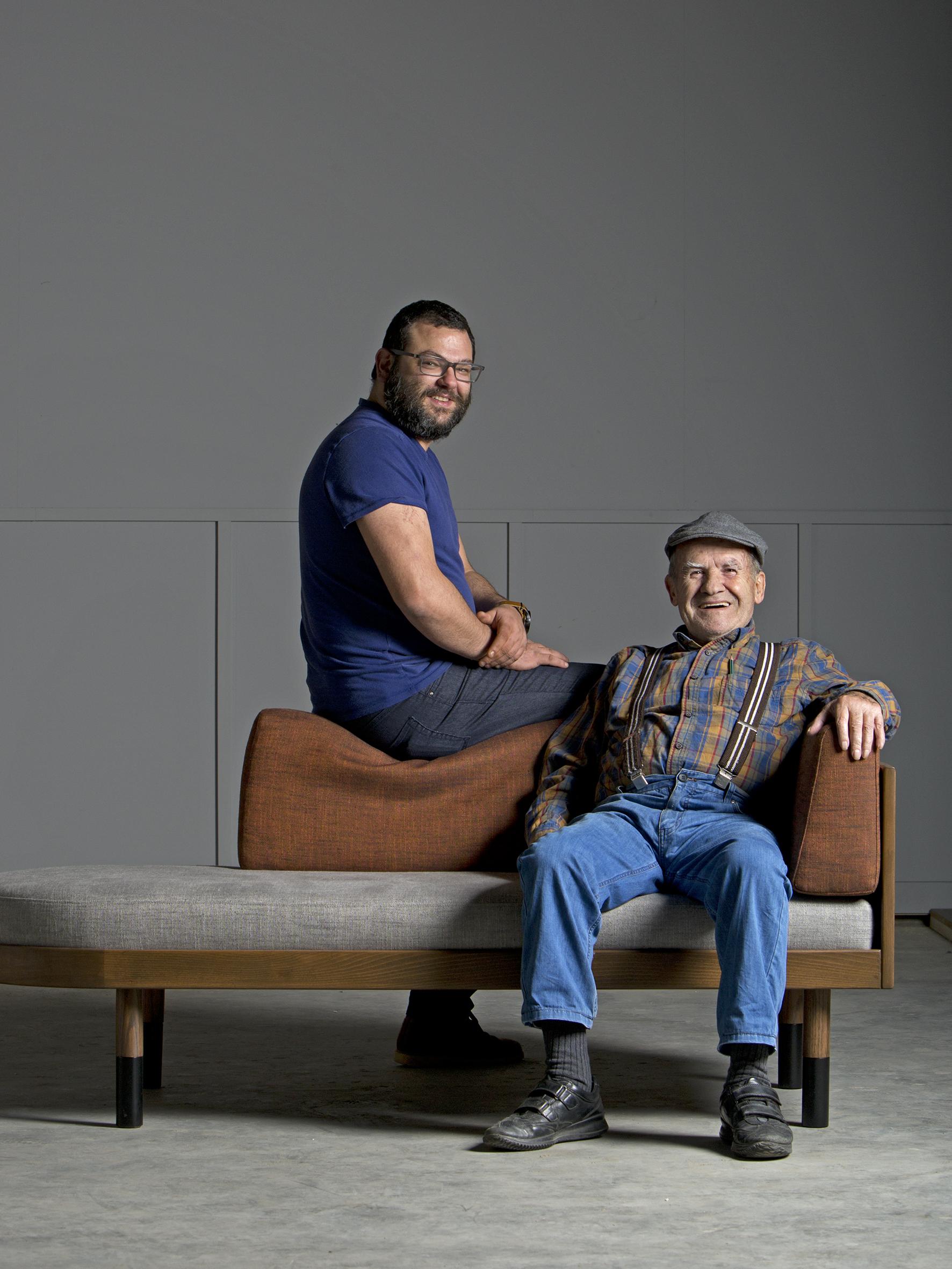 Kanaan, le fondateur et Samer, le gérant de l'Atelier Kanaan