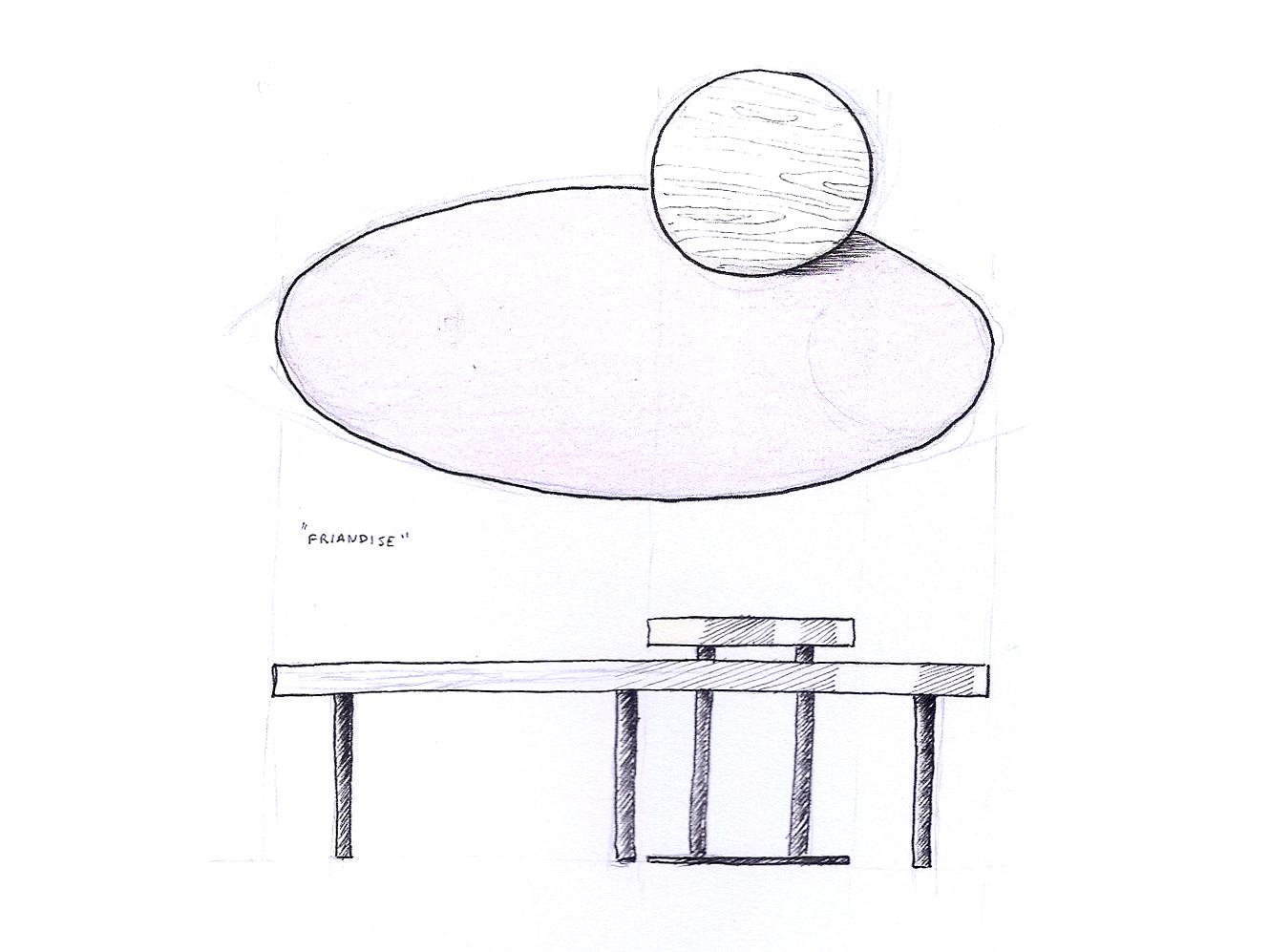 Un jeu sur deux formes en superposition : l'ellipse et le cercle.