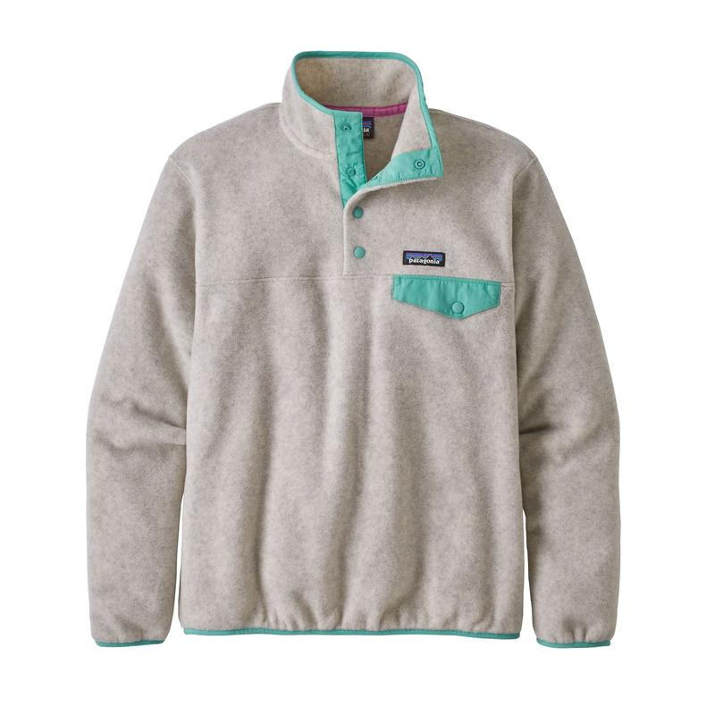 Women's Light Weight Synch Snap-T Pull Over - Oatmeal Heather W/Light Beryl Green