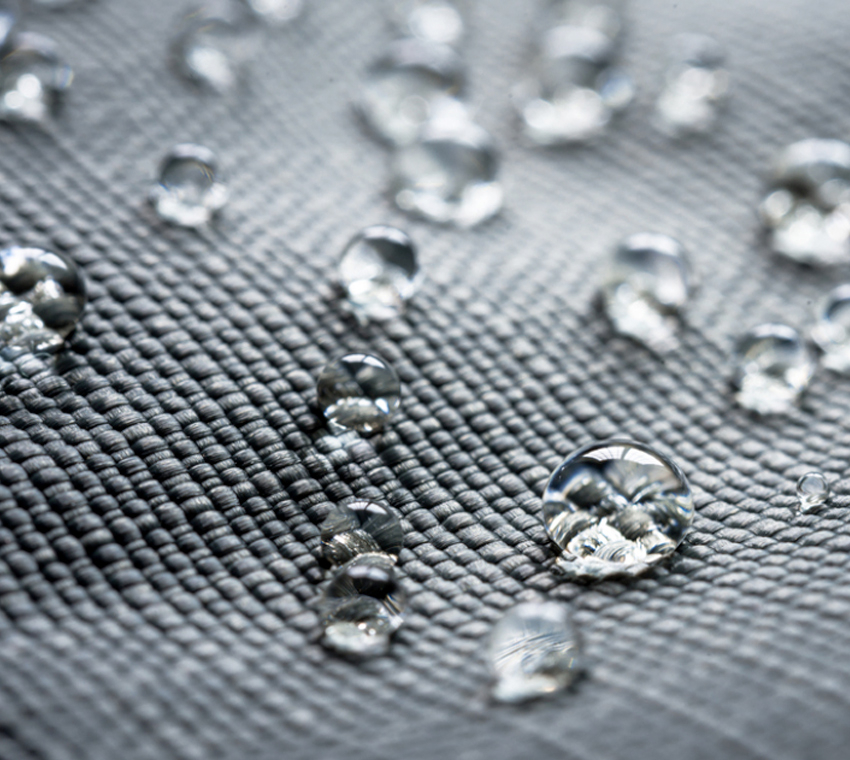 Closeup of water-resistant dreamfel fabric